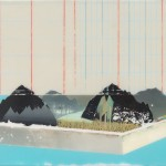 便條紙 - 小山景_ Scrap Paper - A Small View of Mountain Scenery_ Acrylic on Canvas_ 2010_ 22.5 x 15.5 cm