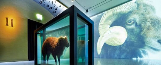 au_gehorsam_greenaway_der-widder-raum-mit-damien-hirsts-black-sheep-with-golden-horns_c_juedisches-museum-berlin-foto-yves-sucksdorff