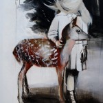 1524-06|Hanna Ilczyszyn|Deer|120×100cm|2014|Acrylic on Canvas