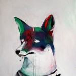 1524-14|Hanna Ilczyszyn|Foxy head_fox|70×60cm|2014|Acrylic on Canvas