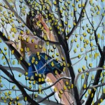 1524-29|Hanna Ilczyszyn|On a tree|120×100cm|2014|Acrylic on Canvas