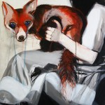 1527-11|Hanna Ilczyszyn|Fox|60×60cm|2014|Acrylic on Canvas