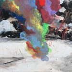 HA173711∣Hanna Ilczyszyn∣Rainbow Smoke-3∣91x116cm∣2017∣Acrylic on Canvas