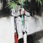1524-19|Hanna Ilczyszyn|Girl with a bamboo|100×80cm|2015|Acrylic on Canvas