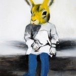 1524-23|Hanna Ilczyszyn|Yellow rabbit|80×70cm|2015|Acrylic on Canvas