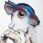 1524-26|Hanna Ilczyszyn|Rat|60×50cm|2015|Acrylic on Canvas