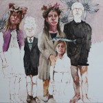1623-05|Mònica Subidé |The family|2015| 46 x 60 cm|oil on wood