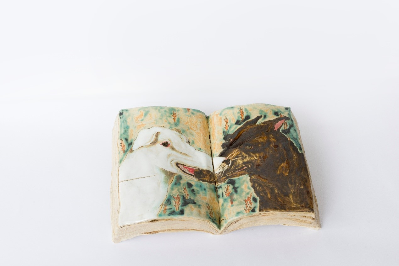 The book you can't put down-Beast|25x40x7 cm|2019|Pottery、Glaze